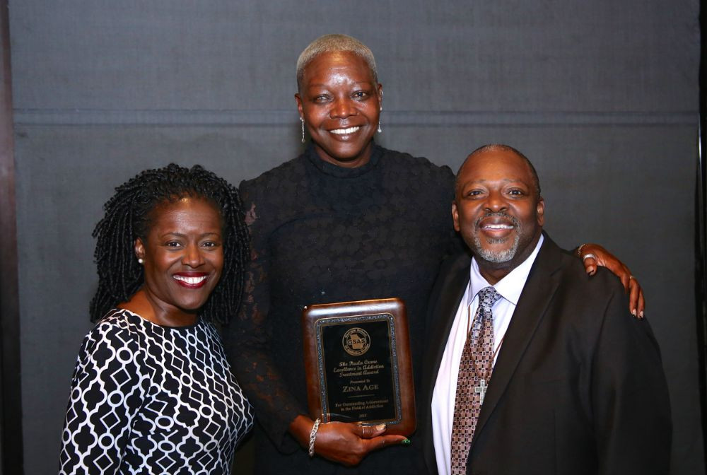 Davine Sparks, Zina Age, the Paula Crane Excellence in Addiction Treatment Award