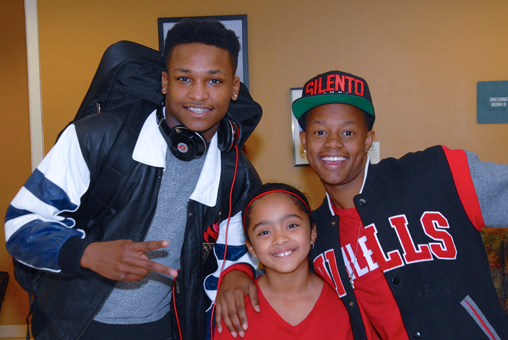DJ Grand, Briana Berry of Barksdale Elementary, and Silento_DSC_0054